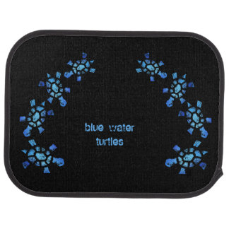 Blue Water Turtle Car Mat