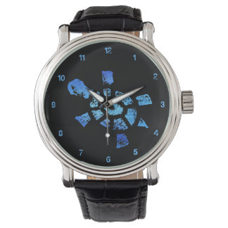 Blue Water Turtle Time Watches