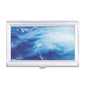 Blue Water Waves in Ocean Business Card Holder