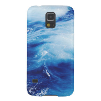Blue Water Waves in Ocean Case For Galaxy S5