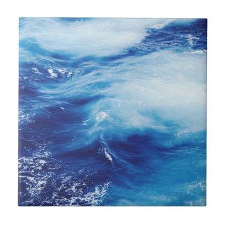 Blue Water Waves in Ocean Ceramic Tiles