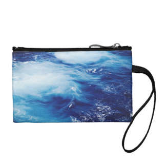 Blue Water Waves in Ocean Coin Purse