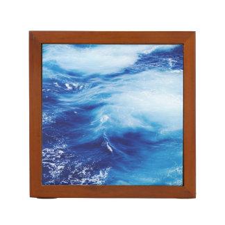 Blue Water Waves in Ocean Desk Organizer