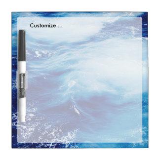 Blue Water Waves in Ocean Dry Erase Boards
