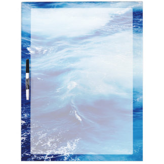 Blue Water Waves in Ocean Dry-Erase Whiteboard