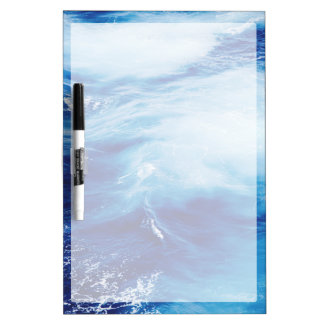 Blue Water Waves in Ocean Dry-Erase Whiteboards