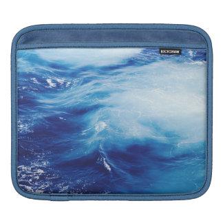 Blue Water Waves in Ocean iPad Sleeves