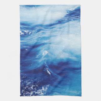 Blue Water Waves in Ocean Kitchen Towel