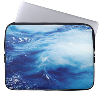 Blue Water Waves in Ocean Laptop Sleeve