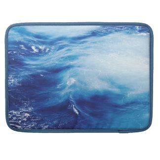 Blue Water Waves in Ocean MacBook Pro Sleeve