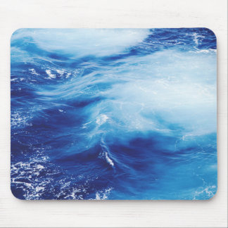 Blue Water Waves in Ocean Mouse Pad