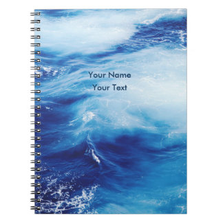 Blue Water Waves in Ocean Notebook