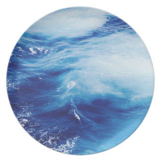 Blue Water Waves in Ocean Party Plates