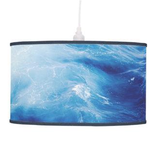 Blue Water Waves in Ocean Pendant Lamp