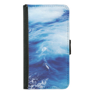 Blue Water Waves in Ocean Samsung Galaxy S5 Wallet Case