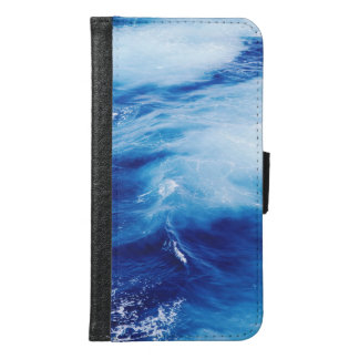 Blue Water Waves in Ocean Samsung Galaxy S6 Wallet Case