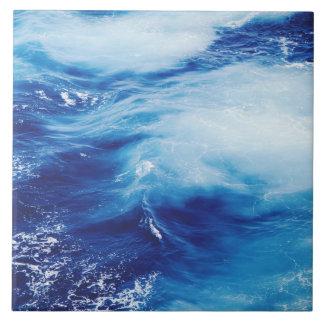 Blue Water Waves in Ocean Tile