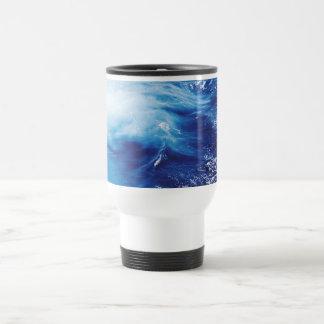 Blue Water Waves in Ocean Travel Mug