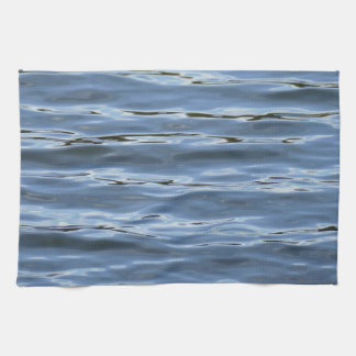 blue water waves kitchen towel