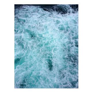 Blue Water Waves Postcard