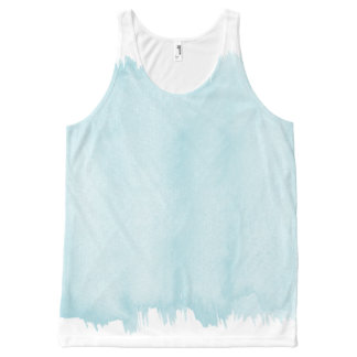 Blue Watercolor All-Over-Print Tank Top