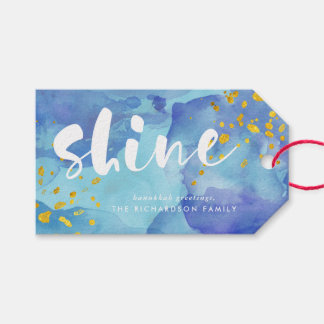 Blue Watercolor and Gold | Shine Gift Tags