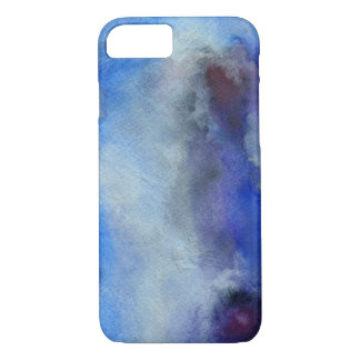 Blue Watercolor Art Apple iPhone 7, Barely There iPhone 8/7 Case