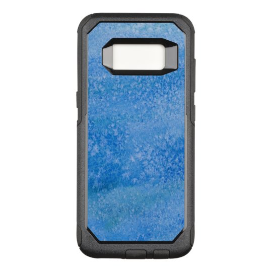 Blue Watercolor Background OtterBox Commuter Samsung Galaxy S8 Case