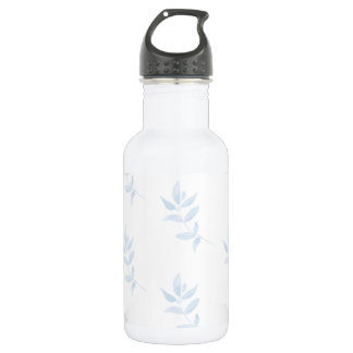 Blue Watercolor Branch 532 Ml Water Bottle