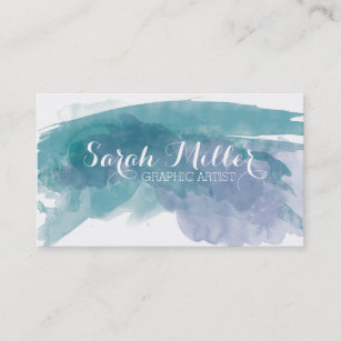 watercolor business cards profile cards zazzle ca