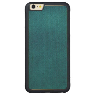 Blue Watercolor Carved® Maple iPhone 6 Plus Bumper Case