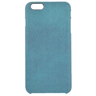 Blue Watercolor Clear iPhone 6 Plus Case