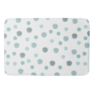 Blue Watercolor Dots Bath Mat