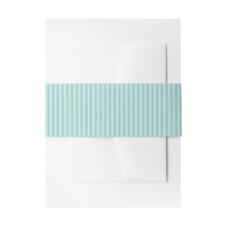 Blue Watercolor Floral Stripe Wedding Belly Band Invitation Belly Band
