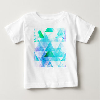 Blue Watercolor Geometric Pattern Baby T-Shirt
