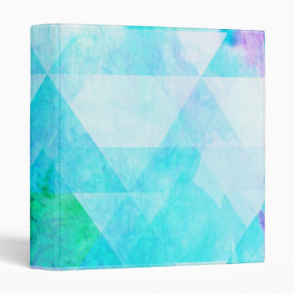 Blue Watercolor Geometric Pattern Binders