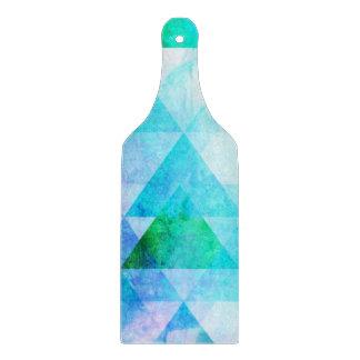 Blue Watercolor Geometric Pattern Boards