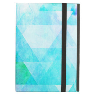 Blue Watercolor Geometric Pattern Cover For iPad Air