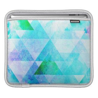 Blue Watercolor Geometric Pattern iPad Sleeve
