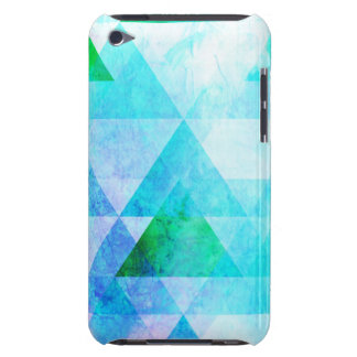 Blue Watercolor Geometric Pattern iPod Touch Cover