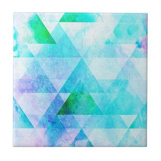 Blue Watercolor Geometric Pattern Tile
