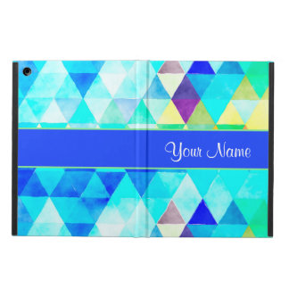 Blue Watercolor Geometric Triangles iPad Air Case
