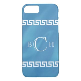 Blue Watercolor Greek Key iPhone 8/7 Case