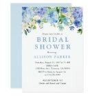 Blue Watercolor hydrangea Bridal Shower Invitation