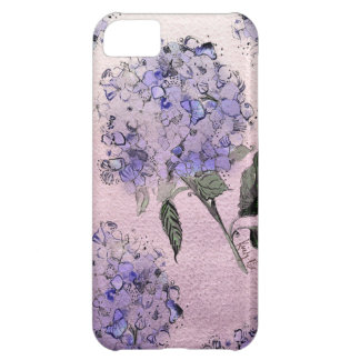 Blue Watercolor Hydrangea iPhone Case