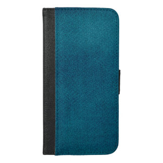 Blue Watercolor iPhone 6/6s Plus Wallet Case
