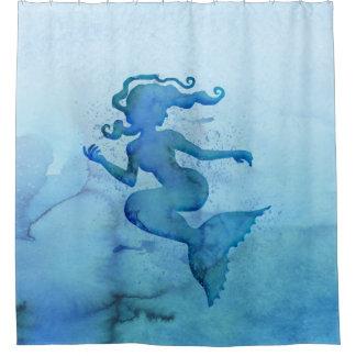 Blue Watercolor Mermaid
