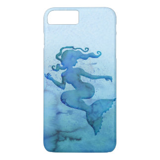 Blue Watercolor Mermaid iPhone 7 Plus Case