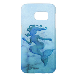 Blue Watercolor Mermaid Samsung Galaxy S7 Case