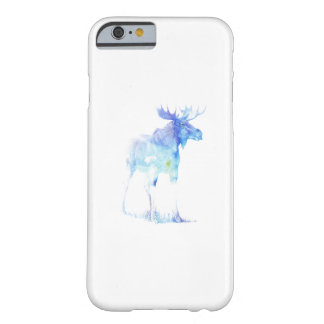 Blue watercolor Moose illustration Barely There iPhone 6 Case